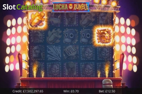 Win Screen 1. Lucha Rumble (Video Slot from Eyecon)