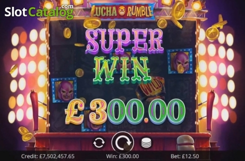 Super Win. Lucha Rumble (Video Slot from Eyecon)