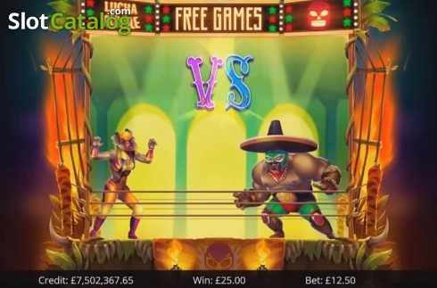 Free Spins 2. Lucha Rumble (Video Slot from Eyecon)