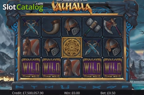 Reel Screen 1. Champions of Valhalla Jackpot (Video Slot from Eyecon)