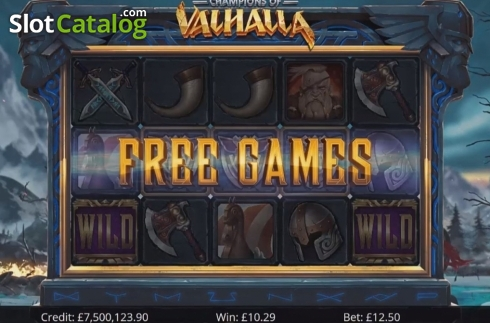 Free Spins. Champions of Valhalla Jackpot (Video Slot from Eyecon)