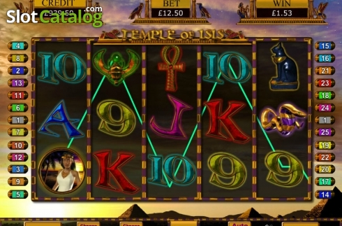 Screen4. Temple of Isis (Video Slot from Eyecon)