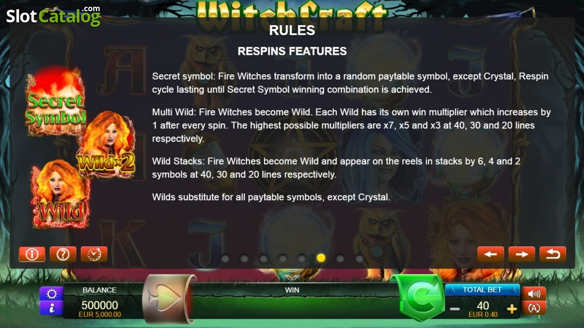 Review of witchcraft video slot from fuga gaming slotcatalog paytable 6 biocorpaavc Choice Image