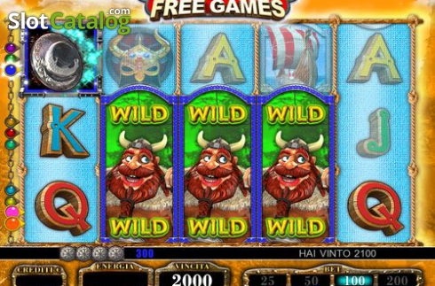 Wild Win screen. Normans (Video Slot from FUGA Gaming)