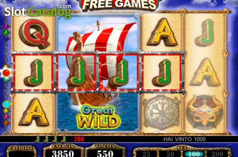 Wild Win screen 2. Normans (Video Slot from FUGA Gaming)