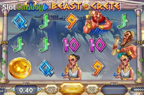 Skjerm2. Wild Beast of Crete (Video Slot fra Felix Gaming)