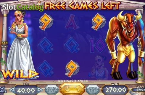Skjerm4. Wild Beast of Crete (Video Slot fra Felix Gaming)