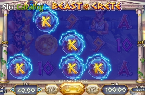 Skjerm3. Wild Beast of Crete (Video Slot fra Felix Gaming)