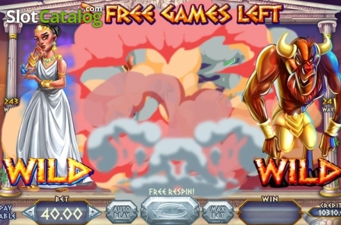 Skjerm5. Wild Beast of Crete (Video Slot fra Felix Gaming)