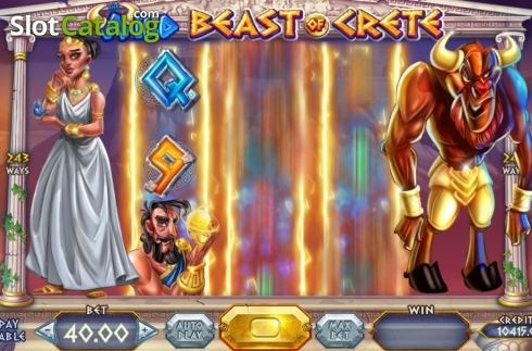 Skjerm6. Wild Beast of Crete (Video Slot fra Felix Gaming)