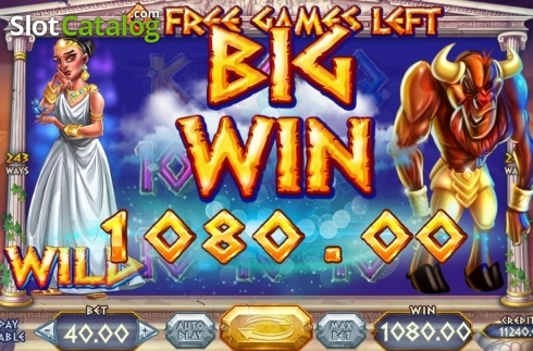 Skjerm8. Wild Beast of Crete (Video Slot fra Felix Gaming)