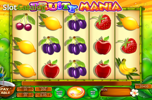 skærm2. Fruity Mania (Video Slot fra Felix Gaming)