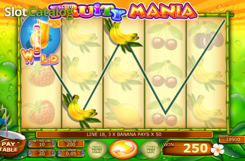 skærm3. Fruity Mania (Video Slot fra Felix Gaming)