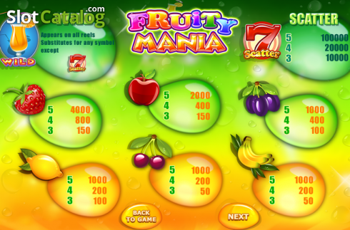 skærm4. Fruity Mania (Video Slot fra Felix Gaming)
