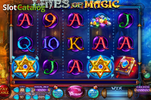 Képernyő2. Lines of Magic (Video Slot tól től Felix Gaming)