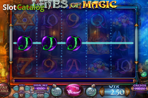 Képernyő3. Lines of Magic (Video Slot tól től Felix Gaming)