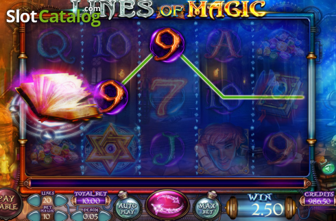 Képernyő4. Lines of Magic (Video Slot tól től Felix Gaming)