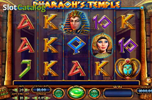 Ekran2. Pharaoh's Temple (Video Yuvası itibaren Felix Gaming)