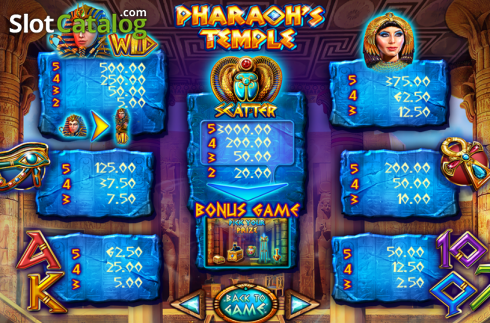 Ekran4. Pharaoh's Temple (Video Yuvası itibaren Felix Gaming)