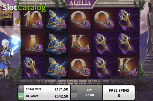 Free spin. Adelia The Fortune Wielder (Video Slot from Foxium)