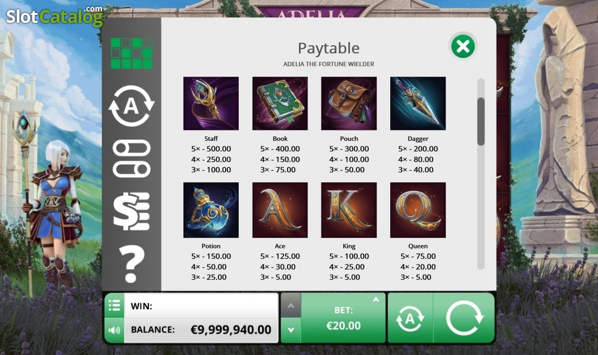 Spiele Adelia The Fortune Wielder - Video Slots Online