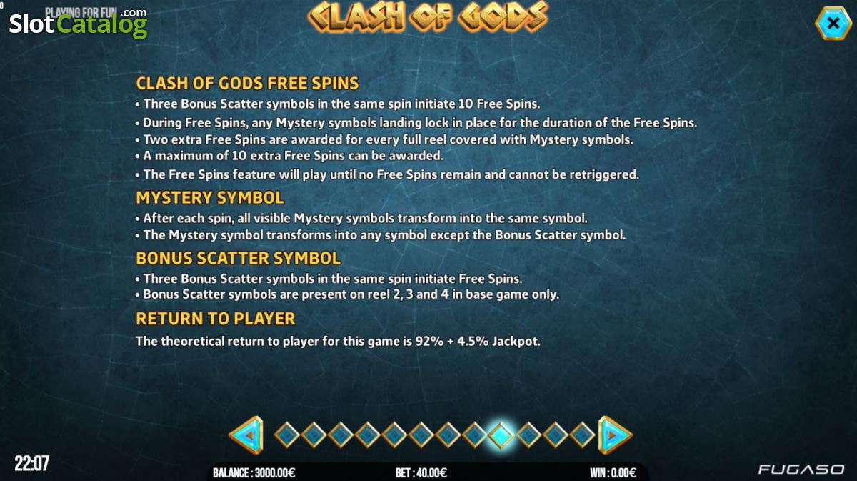 Spiele Clash Of Gods - Video Slots Online