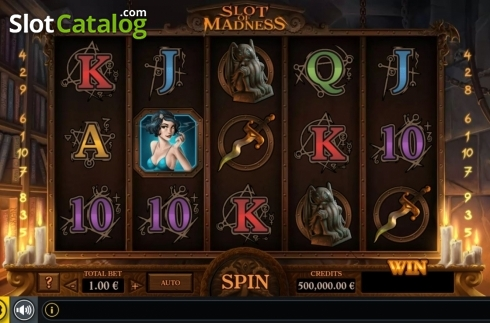 Reel Screen. Slot Of Madness (Video Slot from GAMING1)