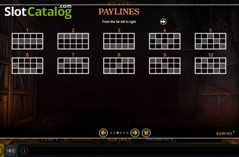 Paylines. Slot Of Madness (Video Slot from GAMING1)