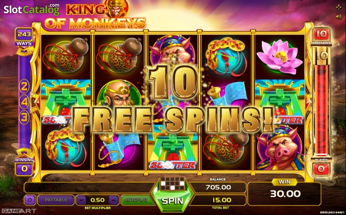 Review of king of monkeys video slot from gameart slotcatalog king of monkeys video slot from gameart izmirmasajfo