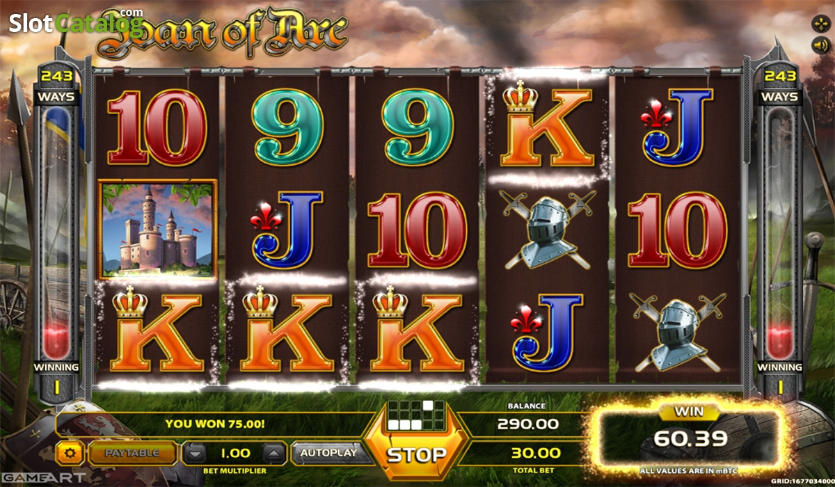 Joan of Arc (GameArt) Slot Review, Bonus Codes & where to play from United  Kingdom