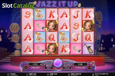 Reel Screen. Jazz It Up (Video Slot from GamePlay)
