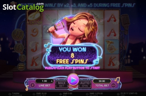 Free Spins Rewarded. Jazz It Up (Video Slot from GamePlay)