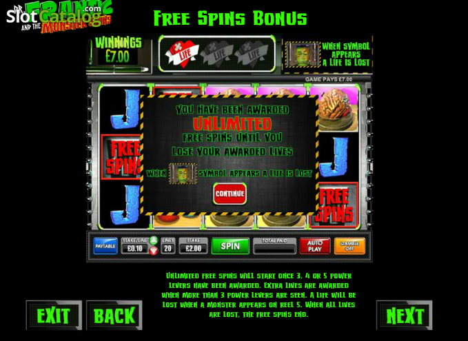 Dr Frantic and the Monster Spins Slot - Play it Now for Free