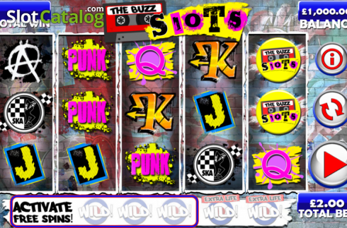 Screen10. The Buzz Slots (Video Slot from Games Warehouse)