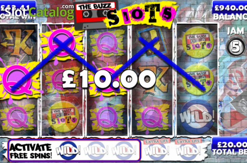 Screen12. The Buzz Slots (Video Slot from Games Warehouse)