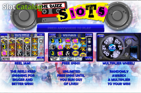 Screen2. The Buzz Slots (Video Slot from Games Warehouse)