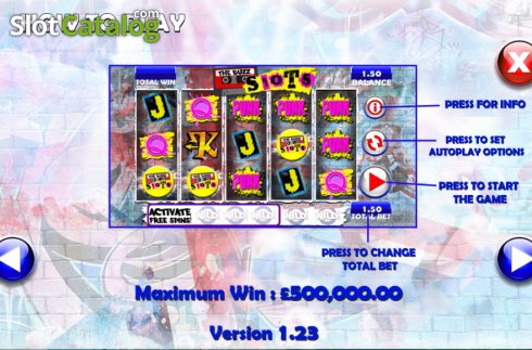 Screen4. The Buzz Slots (Video Slot from Games Warehouse)
