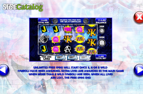 Screen9. The Buzz Slots (Video Slot from Games Warehouse)