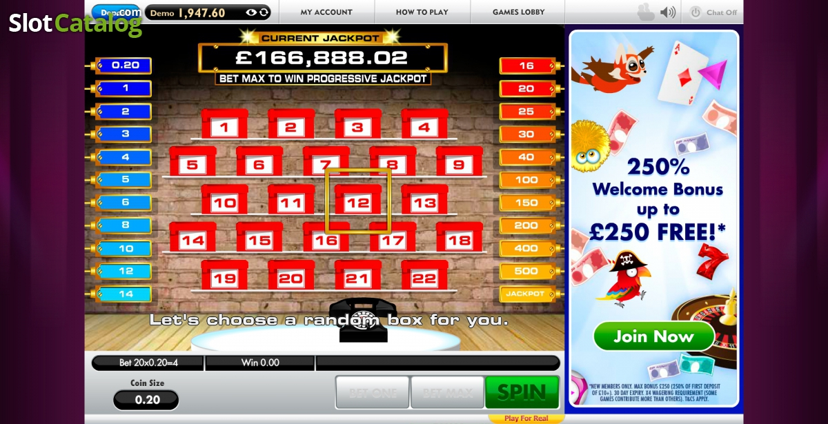 deal or no deal online casino game