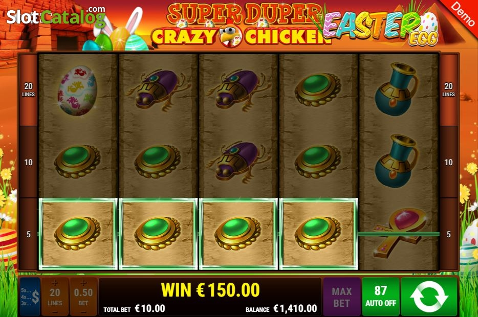 Spiele Super Duper Crazy Chicken Easter Egg - Video Slots Online