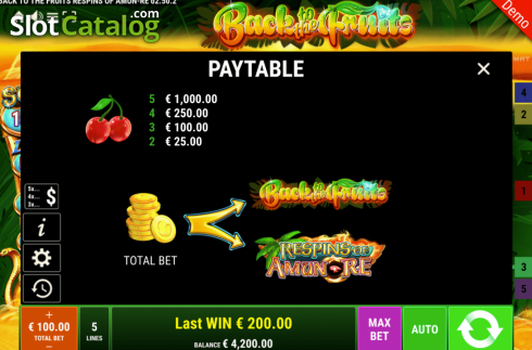 Spiele Back To The Fruits Respins Of Amun-Re - Video Slots Online