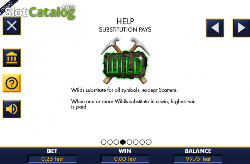 Paytable 2. Riches in the rough (Video Slot from Genesis)