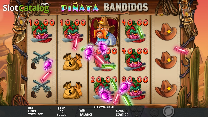 Piñata Bandidos Slot Review, Bonus Codes & where to play from United Kingdom