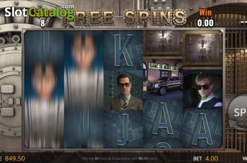 Free Spins Screen. Monte Carlo Heist (Video Slot from Genii)