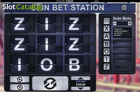Reel Screen. Spin Bet Station (Video Slot from Green Jade Games)