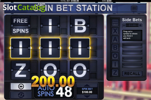 Win Screen 1. Spin Bet Station (Video Slot from Green Jade Games)