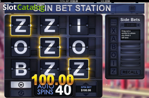 Win Screen 2. Spin Bet Station (Video Slot from Green Jade Games)