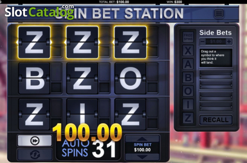 Win Screen 3. Spin Bet Station (Video Slot from Green Jade Games)