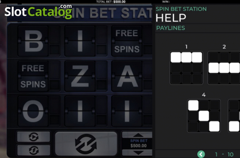 Paylines. Spin Bet Station (Video Slot from Green Jade Games)