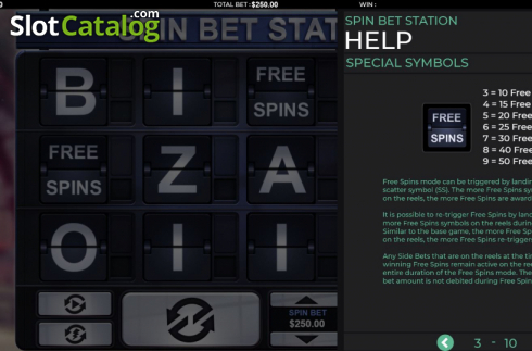 Features 1. Spin Bet Station (Video Slot from Green Jade Games)